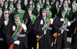 Iranian Female Guards with AK-47s